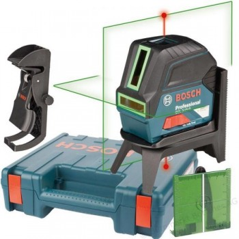Комбинированный лазерный нивелир Bosch GCL 2-15G + RM1 + кейс