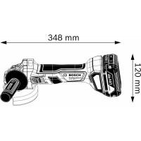 Аккумуляторная углошлифмашина Bosch GWS 180-LI