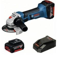 Аккумуляторная угловая шлифмашина Bosch GWS 18-125 V-LI + GBA 18 В 4.0 Aч + GAL 18V-40