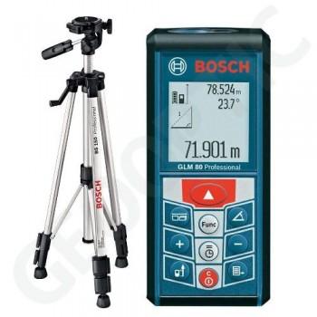 Лазерный дальномер-уклономер Bosch GLM 80+BT150